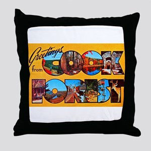 Cook Forest Greetings Throw Pillow