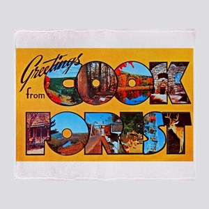 Cook Forest Greetings Throw Blanket