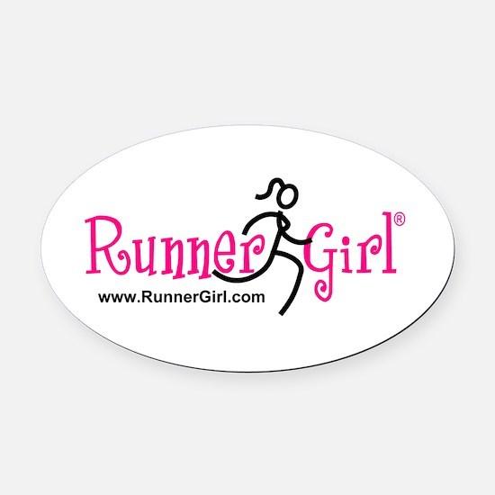 Runnergirl Oval Car Magnet