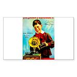 The Edison Phonograph Sticker (Rectangle 10 pk)
