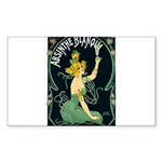 Absinthe Blanqui Vintage Sticker (Rectangle 10 pk)