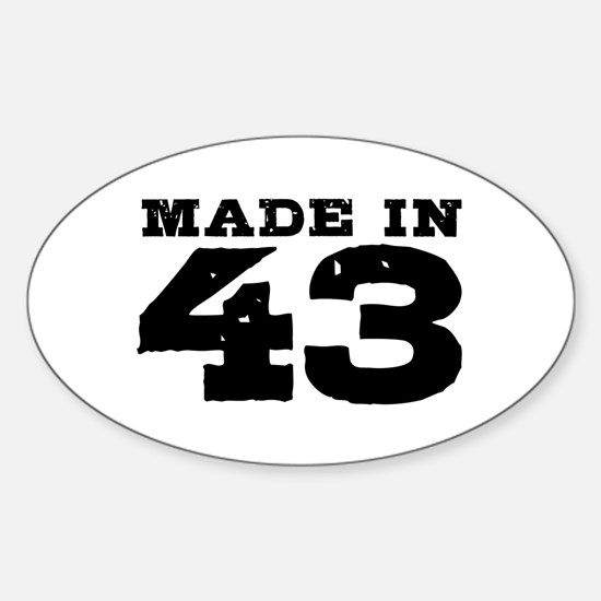 Made in 43 Sticker (Oval)