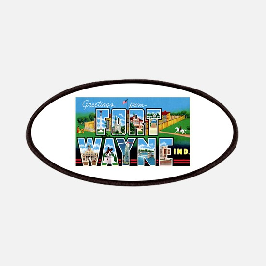 Fort Wayne Indiana Greetings Patches