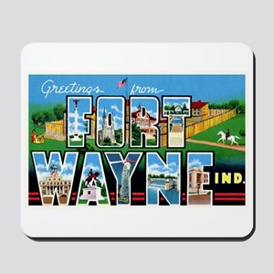 Fort Wayne Indiana Greetings Mousepad