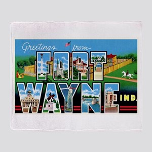 Fort Wayne Indiana Greetings Throw Blanket