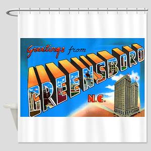 Greensboro North Carolina Greetings Shower Curtain