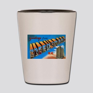 Greensboro North Carolina Greetings Shot Glass