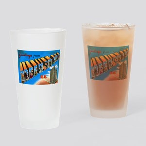 Greensboro North Carolina Greetings Drinking Glass