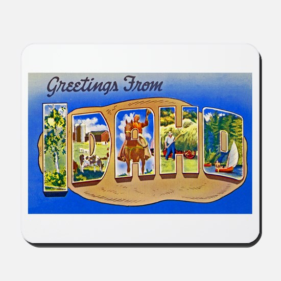 Idaho Greetings Mousepad