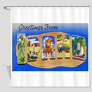 Idaho Greetings Shower Curtain