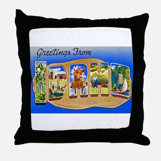 Idaho Greetings Throw Pillow