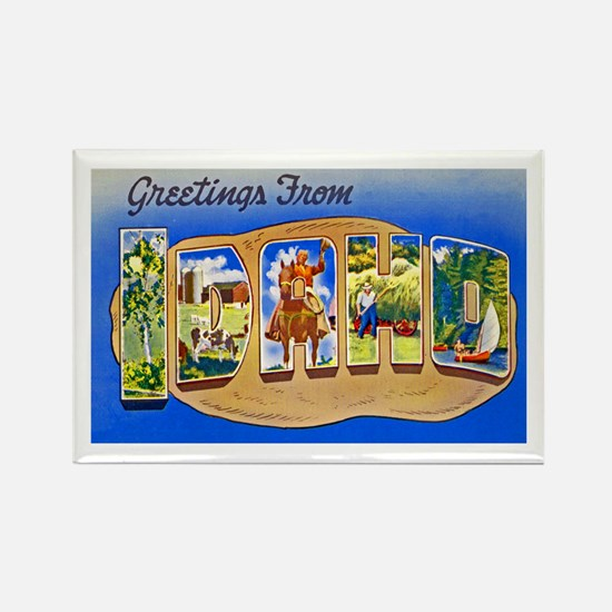 Idaho Greetings Rectangle Magnet