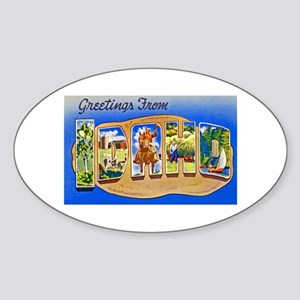 Idaho Greetings Sticker (Oval)