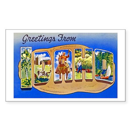 Idaho Greetings Sticker (Rectangle)
