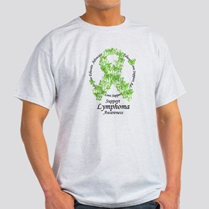 Lymphoma Butterfly Ribbon T-Shirt