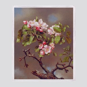 Branch of Apple Blossoms Throw Blanket