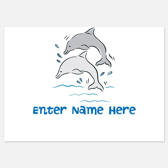 Personalized Dolphins Invitations