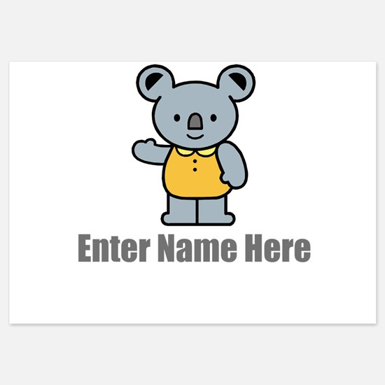 Personalized Koala Bear Invitations