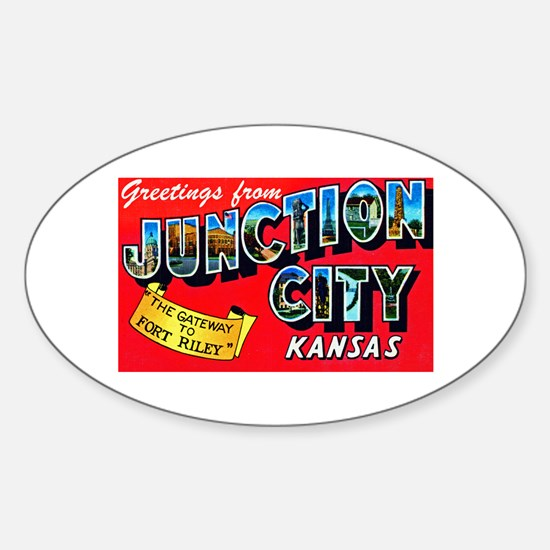 Junction City Kansas Greetings Sticker (Oval)
