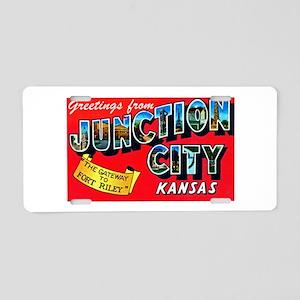 Junction City Kansas Greetings Aluminum License Pl
