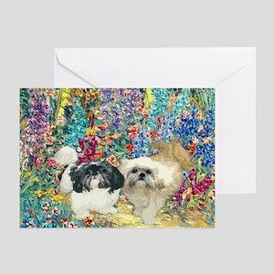 Shih Tzu Fine Art Bijou & Asti Greeting Cards (Pac