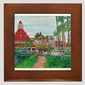 Coronado Hotel Del Framed Tile