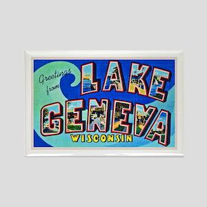 Lake Geneva Wisconsin Greetings Rectangle Magnet