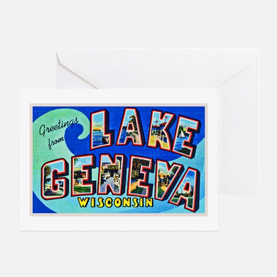 Lake Geneva Wisconsin Greetings Greeting Card