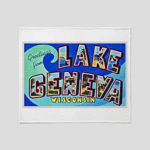 Lake Geneva Wisconsin Greetings Throw Blanket