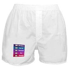 Binders Full of Women for Obama Boxer Shorts