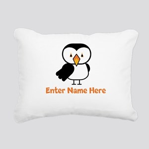 Personalized Puffin Rectangular Canvas Pillow