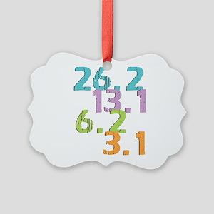 runner distances Picture Ornament
