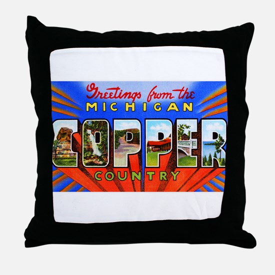 Michigan Copper Country Throw Pillow