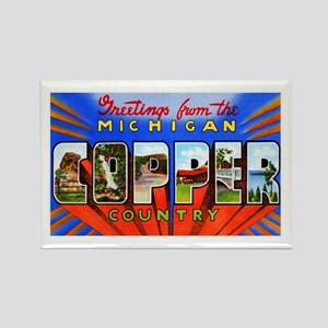 Michigan Copper Country Rectangle Magnet
