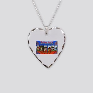 Michigan Copper Country Necklace Heart Charm
