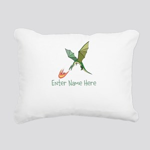 Personalized Dragon Rectangular Canvas Pillow