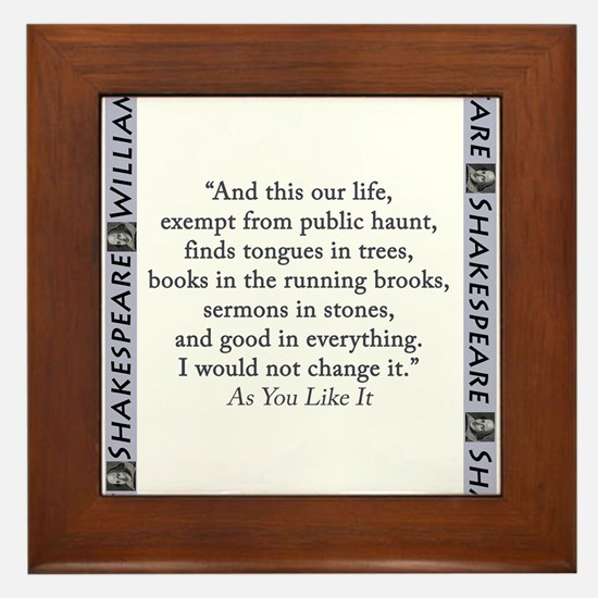 And This Our Life Framed Tile