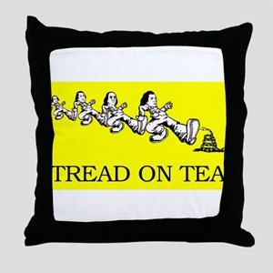 tread on Tea shirt Throw Pillow