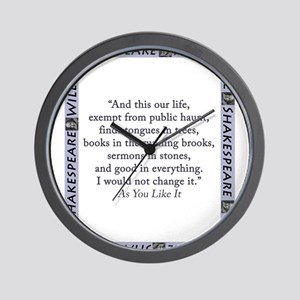 And This Our Life Wall Clock