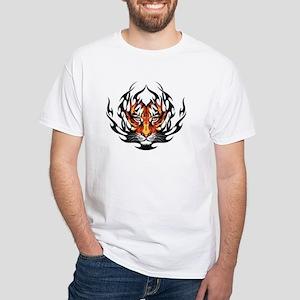 Tiger Fire White T-Shirt