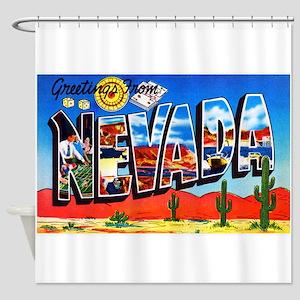 Nevada Greetings Shower Curtain