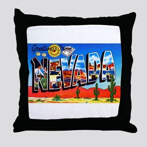 Nevada Greetings Throw Pillow