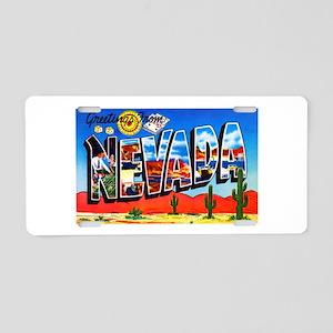 Nevada Greetings Aluminum License Plate