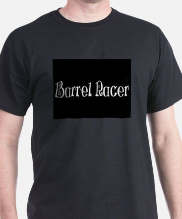 Barrel Racer- Black Black T-Shirt