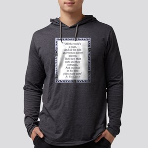 All The Worlds A Stage Mens Hooded Shirt
