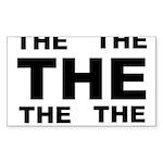 THE image white Sticker (Rectangle 10 pk)