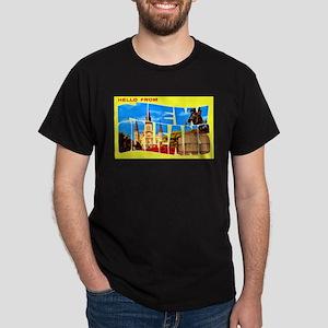 New Orleans Louisiana Greetings Dark T-Shirt