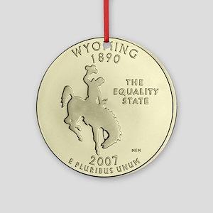 Wyoming Quarter 2007 Basic Round Ornament