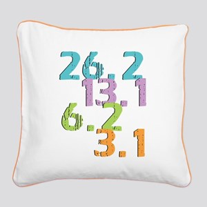 runner distances Square Canvas Pillow