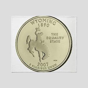 Wyoming Quarter 2007 Basic Throw Blanket